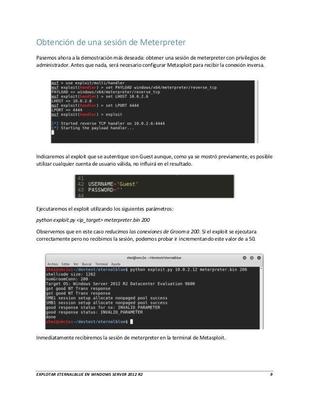Cómo explotar EternalBlue en Windows Server 2012 R2