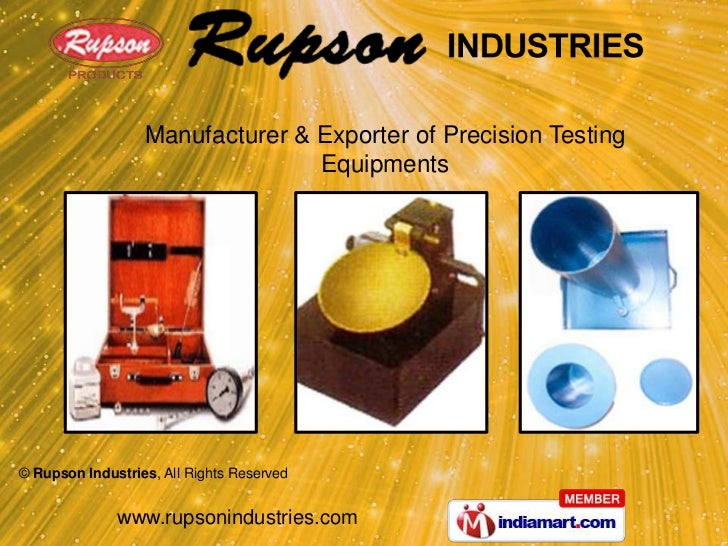 Manufacturer & Exporter of Precision Testing Equipments<br />