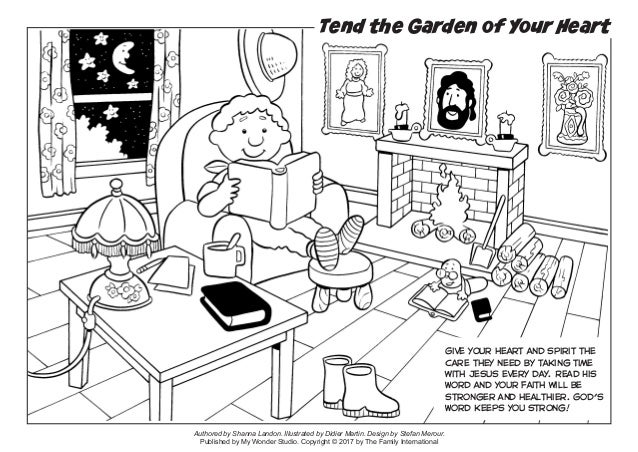 Coloring Page Tend The Garden Of Your Heart
