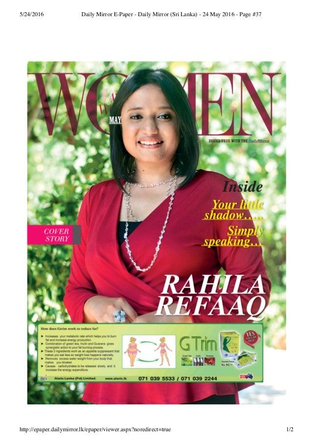 5/24/2016 Daily Mirror E-Paper - Daily Mirror (Sri Lanka) - 24 May 2016 - Page #37 http://epaper.dailymirror.lk/epaper/vie...