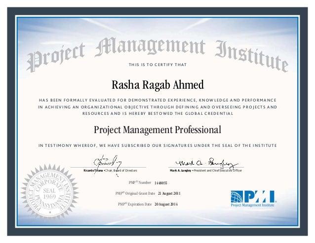 Pmp Certificate 2008