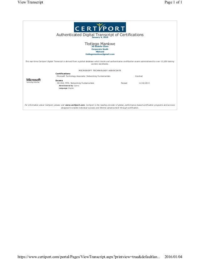 Tlotlego Mta Certificate