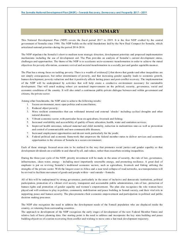 national documentation package somalia