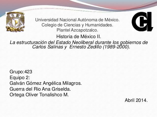 Universidad Nacional Autónoma de México. Colegio de Ciencias y Humanidades. Plantel Azcapotzalco. Historia de México II. L...