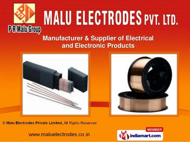 Manufacturer & Supplier of Electrical     and Electronic Products