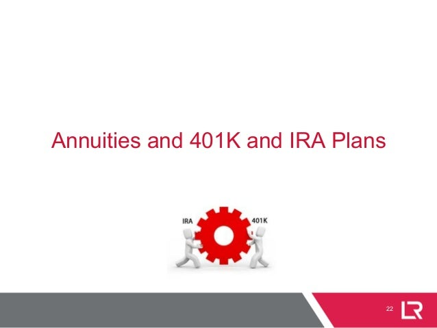 22 Annuities and 401K and IRA Plans
