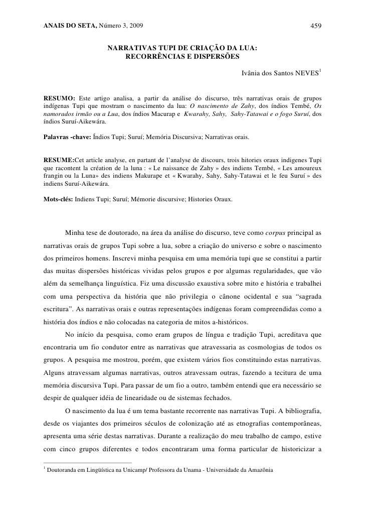 ANAIS DO SETA, Número 3, 2009                                                                   459                       ...