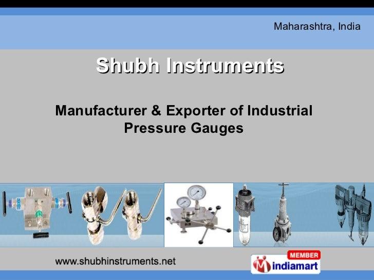 Manufacturer & Exporter of Industrial Pressure Gauges