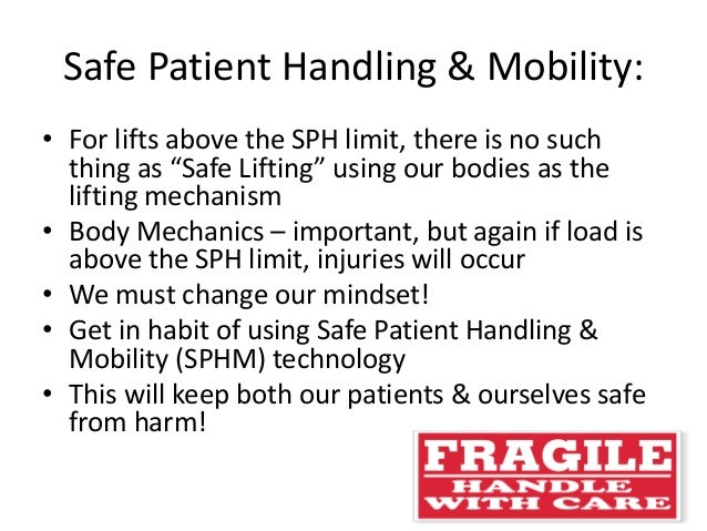 safe manual handling of patients