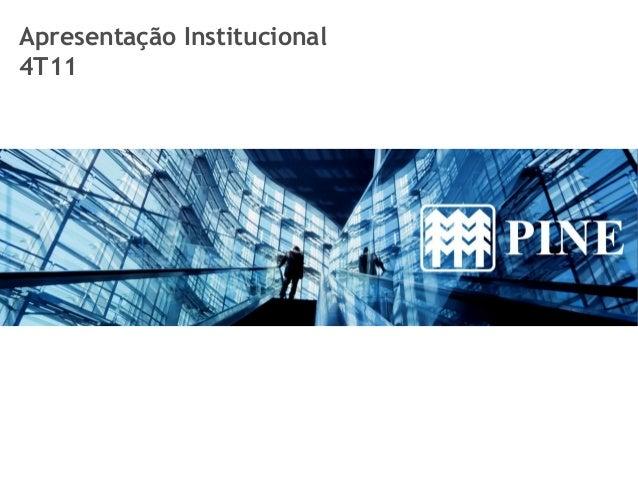 Apresentação Institucional 4T11