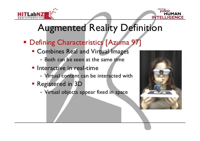2014 COSC 426 Lecture 2: Augmented Reality Technology