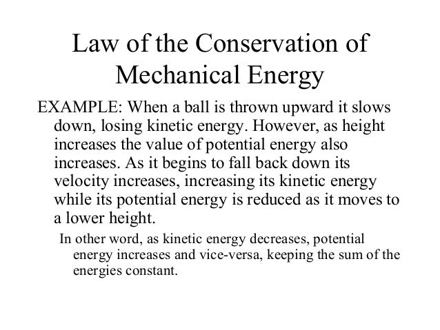 426 45 Conservation Of Mechanical Energy