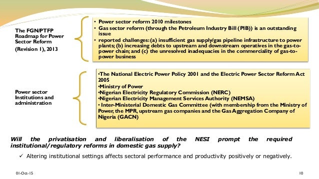 electric power sector reform in nigeria business essay Nigerian power sector reforms and  - the need to reduce the cost of doing business in nigeria in order to  ( passage of electric power sector reform).