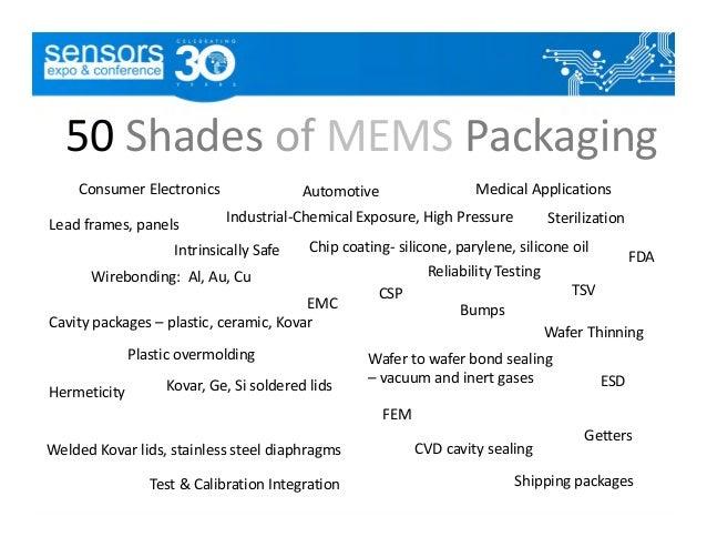Sparks Expo June 2015 Mems Packaging