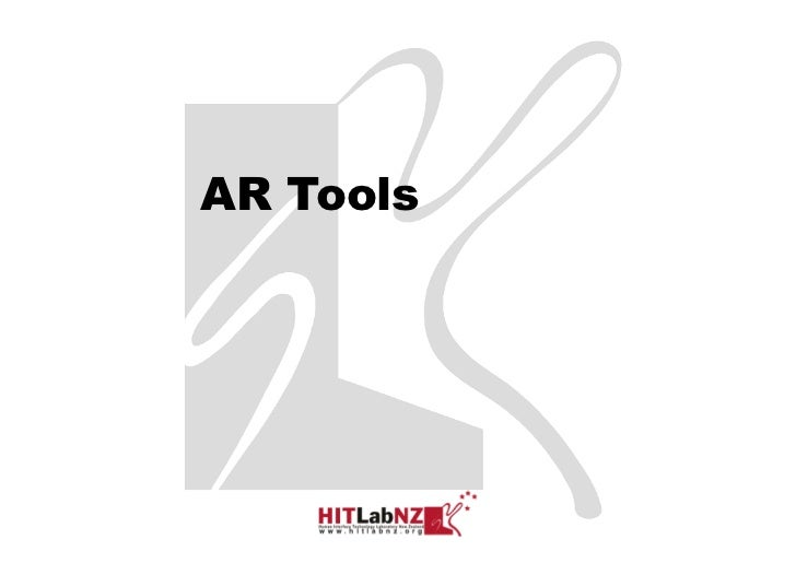426 lecture 4: AR Developer Tools