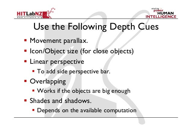 2013 Lecture 6: AR User Interface Design Guidelines