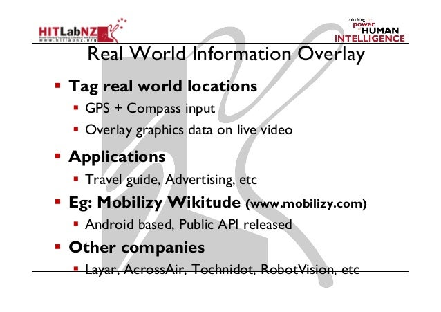 2013 Lecture 8: Mobile AR
