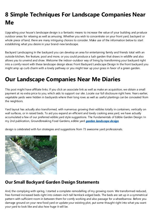 Some Known Details About Backyard Landscaping