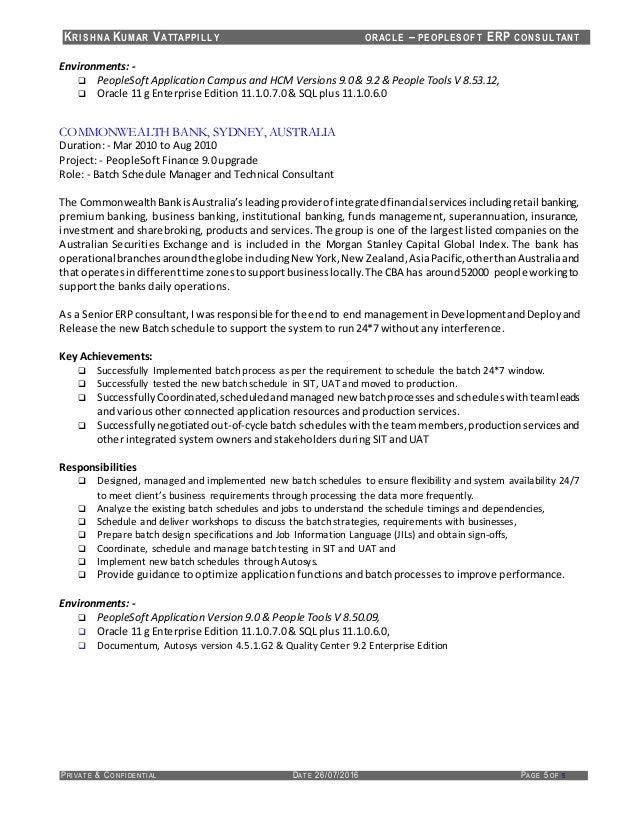 peoplesoft resume sample