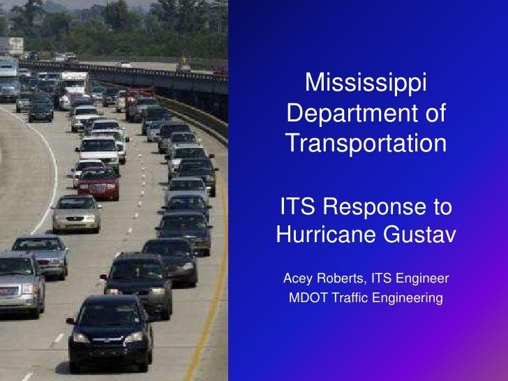 MDOT's Response to Hurricane Gustav