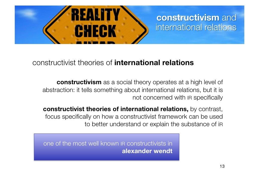 constructivism international relations theory pdf