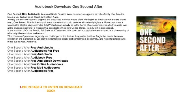 Free one second after audiobook download online streaming mp3   ficti….