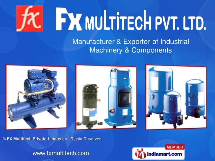 Manufacturer & Exporter of Industrial    Machinery & Components
