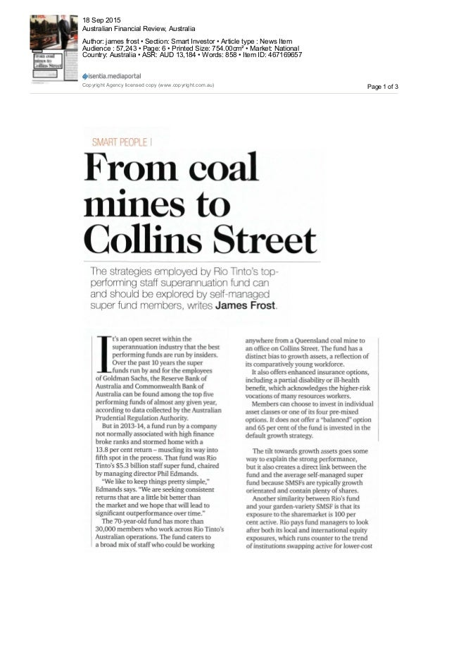 anywhere from a Queensland coal mine to an office on Collins Street. The fund has a distinct bias to growth assets, a refl...