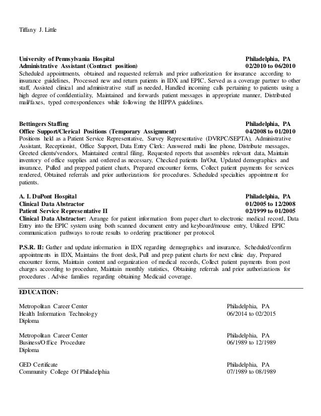 Tjl Up To Date Resume (General)