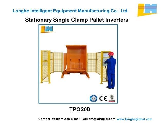 Stationary Load Inverter Pallet Inverter Bulle Pallet: Stationary Single Clamp Pallet Inverters