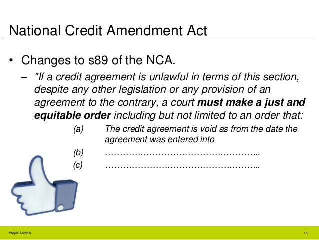 Ad Hoc Loan Agreements In Terms Of The Nca
