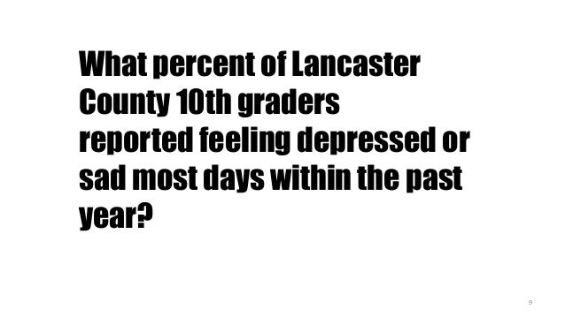 Mental Well-Being In Lancaster County FINAL