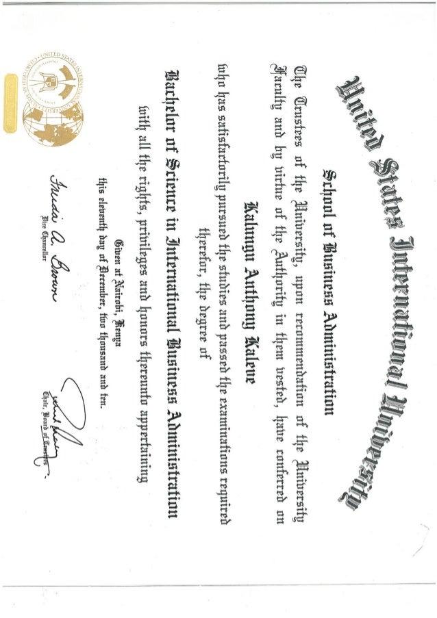 Anthony\'s Undergraduate Certificate
