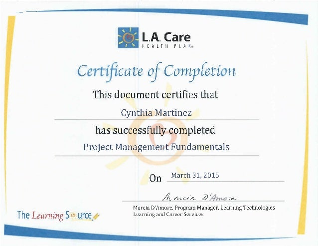 Project management cert
