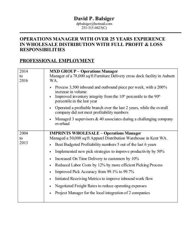 Balsiger Resume