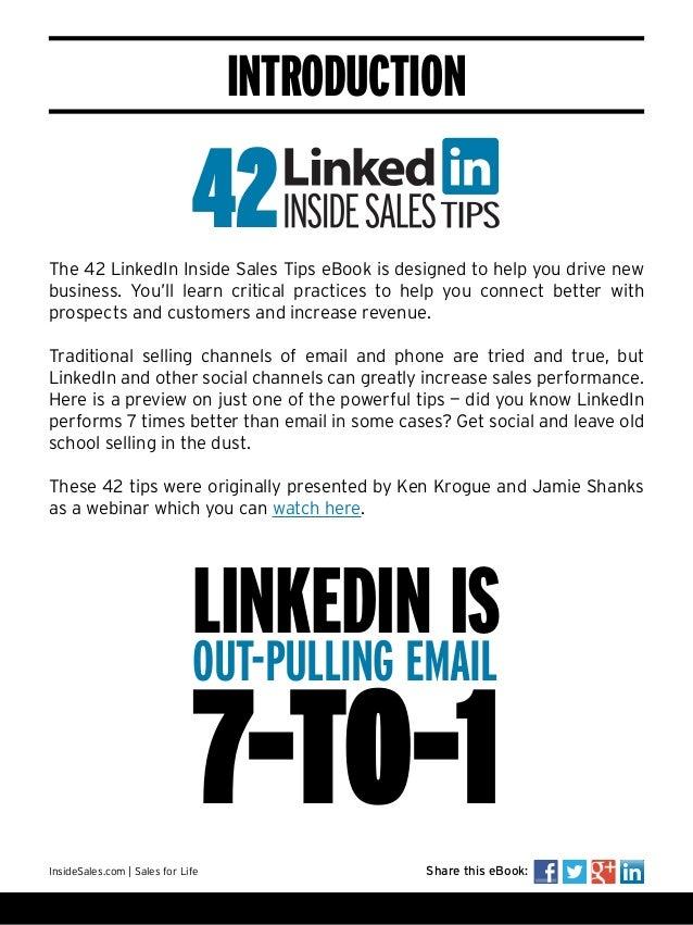 42 linkedin inside sales tips introduction fandeluxe Choice Image