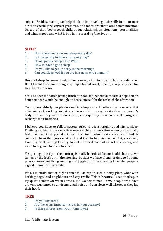 42 topics for ielts speaking part 1 &