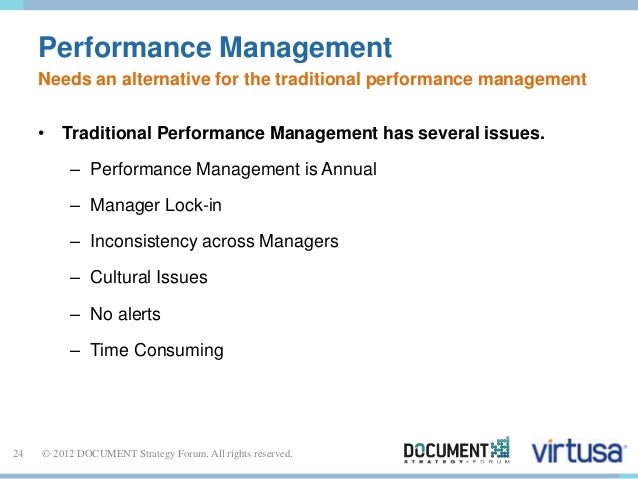 Performance Management  Needs an alternative for the traditional performance management  • Traditional Performance Managem...