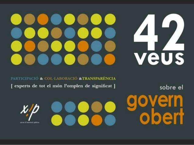 El vídeo del govern obert Visualitzacions: • català: 2.917 • castellà: 4.022 • anglès: 1.233 • francès: 608+412 El vídeo h...
