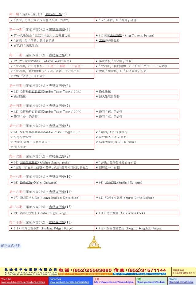 敦 珠 佛 学 会 国 际 有 限 公 司 通 讯 地 址 : 香 港 柴 湾 常 安 街 7 7 号 发 达 中 心 4 楼 4th Floor Federal Centre 77 Sheung On Street Chaiwan Hong ...