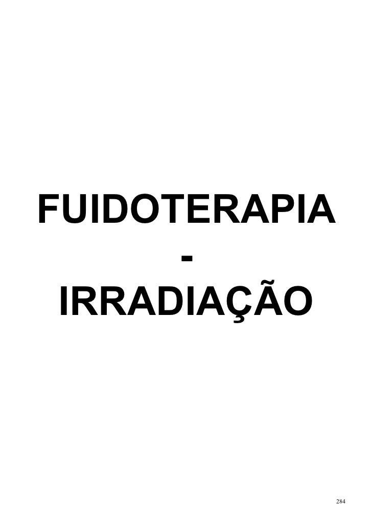 FUIDOTERAPIA      - IRRADIAÇÃO               284