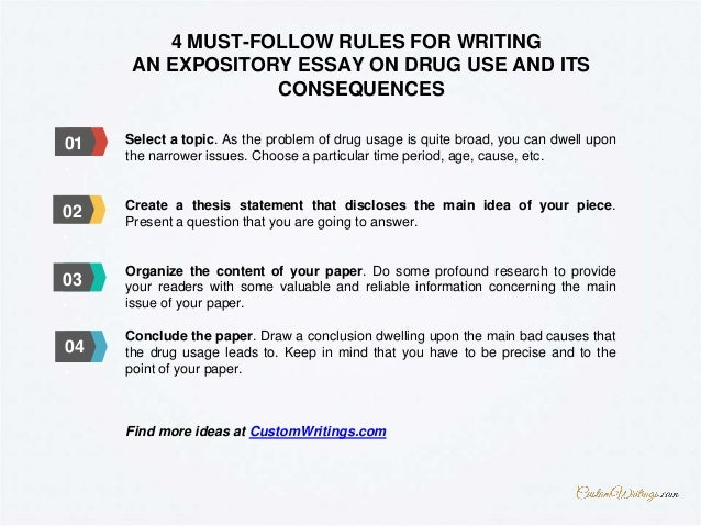 how to write an expository essay on drug use and its consequences 3 4 must follow rules for writing an expository essay