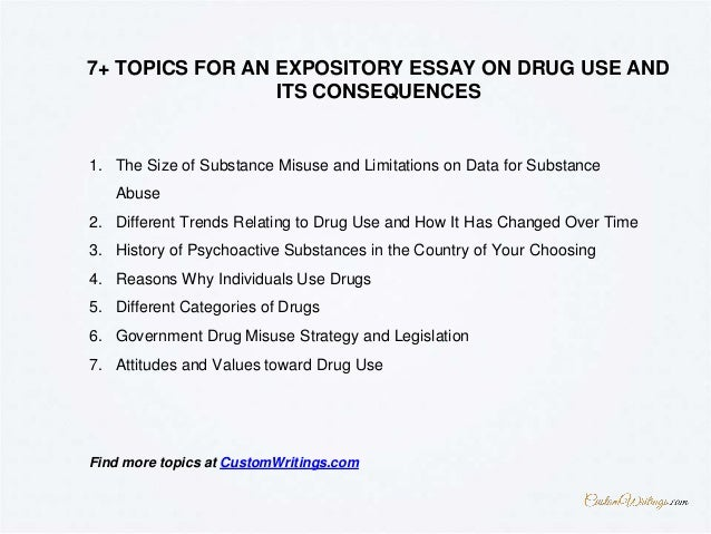 how to write an expository essay on drug use and its consequences 4 1