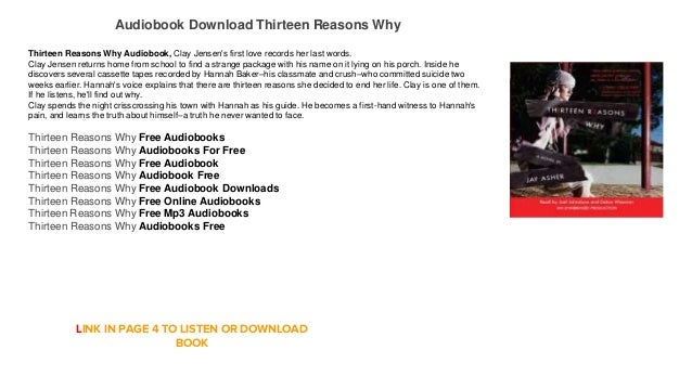 Audiobook download mp3 free thirteen reasons why - 13 reasons why download ...