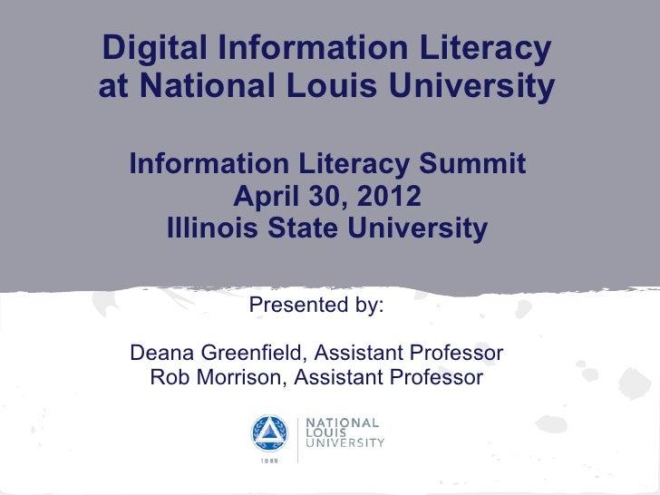 2012 Information Literacy Summit ISU