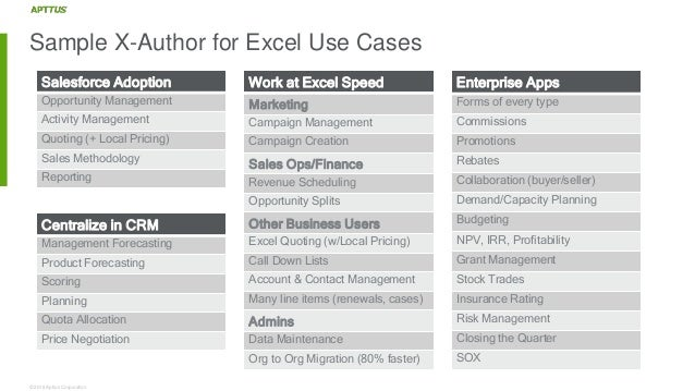 develop innovative quote to cash applications in excel using x author