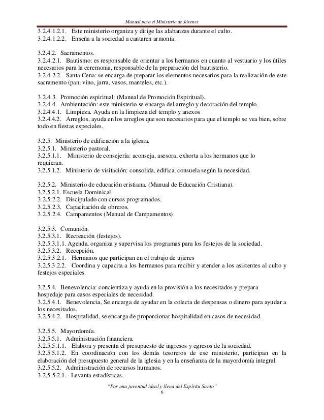 Manual para el Ministerio de Jóvenes3.2.5.5.2.2. Redacta acuerdos de su sociedad.3.2.5.5.2.3. Archiva acuerdos.3.2.5.5.2.4...