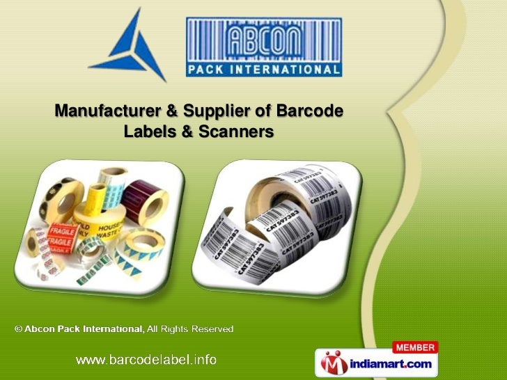 Manufacturer & Supplier of Barcode       Labels & Scanners
