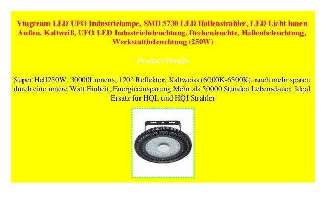 250W Werkstattbeleuchtung Deckenleuchte SMD 5730 LED Hallenstrahler Hallenbeleuchtung Kaltwei/ß Viugreum LED UFO Industrielampe UFO LED Industriebeleuchtung LED Licht Innen Au/ßen
