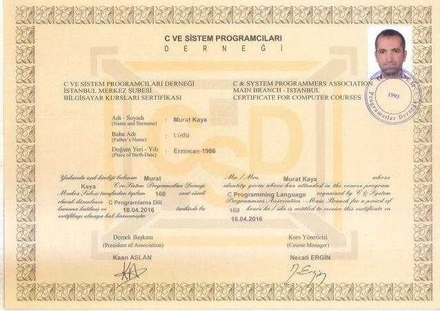 C Programming Certificate